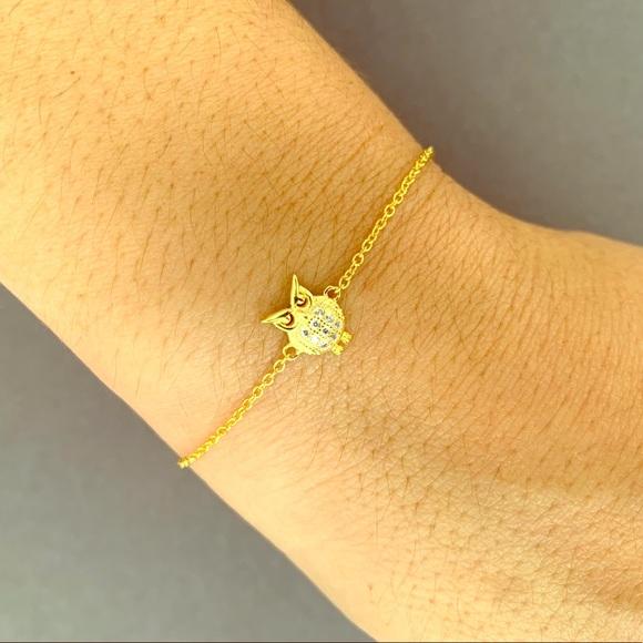 Jewelry - Gold plated 18k zircon owl bracelet